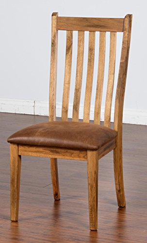 Oak Office Bench (Sunny Designs 1408RO-CT Sedona Side Chair, Rustic Oak)