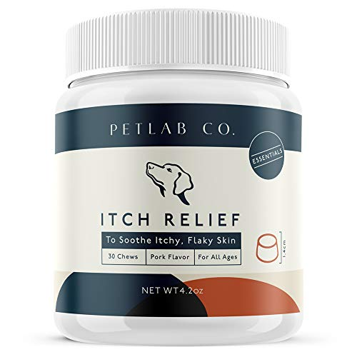 Petlab Co. Itch Relief Chews for Dogs | Anti Itch Dog Allergy Chews for Soothing Itchy Dog Skin | Turmeric Curcumin, Fatty Acids and Hone