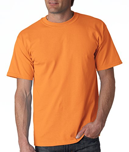 Gildan mens Ultra Cotton 6 oz. T-Shirt(G200)-TANGERINE-4XL