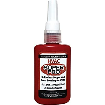1.85 Oz HVAC Super Pro - Solderless Copper, Aluminum And Brass Bonding - No Soldering Required - Air Conditioning - Refrigeration