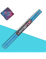 FITSTIX Drumsticks for Fitness & Aerobic Workout Classes, Drum Sticks, Strong and Light Weight design make a fun addition to any exercise routine or class. (BLUE)