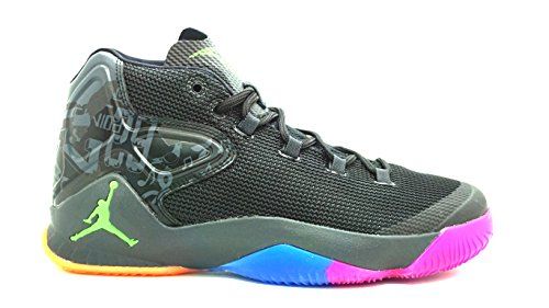 [827176-030] AIR Jordan MELO M12 Mens Sneakers AIR JORDANBLACK/GRN GST MTLC (Air Carmelo Jordan)