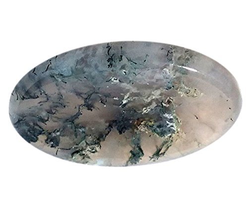 WholesaleGemShop Moss Agate Worry Stone - Moss Agate Necklace