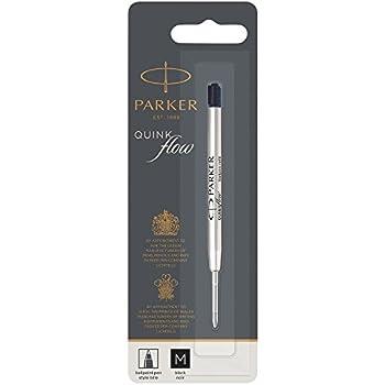 Medium 1950369 Parker Ballpoint Quink Flow Pen Refill Black Ink Box of 12