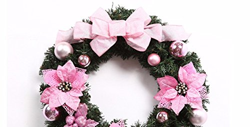 Christmas Garland for Stairs fireplaces Christmas Garland Decoration Xmas Festive Wreath Garland with Christmas wreath purple butterfly knot wreath Christmas door rattan ring,60CM