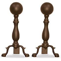 Uniflame, A-5817, Bronze Ball Andirons