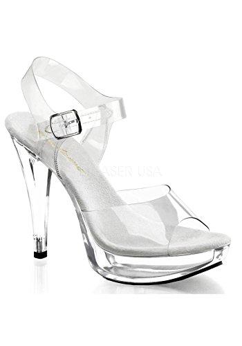 Pleaser Women's Cocktail-508/C/M Platform Sandal,Clear/Clear,7 M US