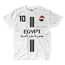 KiarenzaFD Maillot de football de Mohamed Salah, numéro 10 de l'Égypte