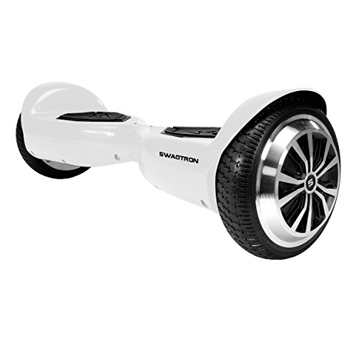 Swagtron 80668-5 T5 Entry Level Hoverboard for Kids and Young Adults; Optional Learning Mode (White)