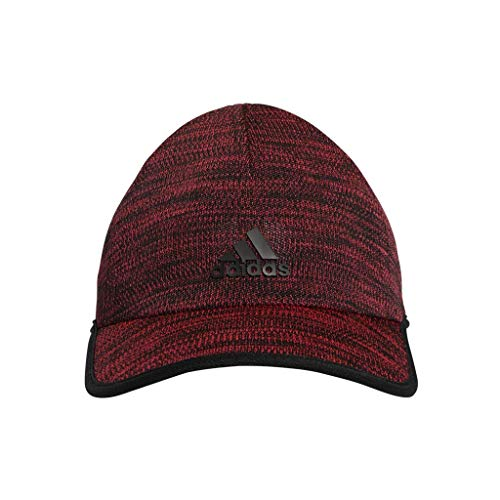adidas Women's Superlite Prime II Relaxed Adjustable Cap, Shock Red/Black, One Size ()