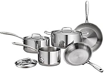 Tramontina 80116 544DS Stainless Steel Tri-Ply Clad Cookware Set, 8-Piece, Made in China