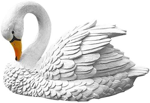 ACAMPTAR Garden Sculpture Outdoor Floating Beach Swan Figurines Decoration Pond Garden Statues Realistic Water Art…