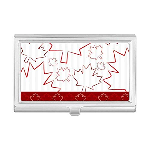 Happy Canada Day 4th of July Maple Leaf Business Card Holder Case Wallet