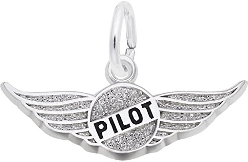 Rembrandt Pilots Wings Charm - Metal - Sterling Silver