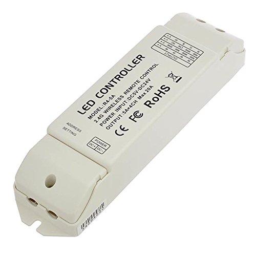 LEDwholesalers Wireless Receiver 2.4GHz Synchronizable Slave Unit for RGB LED Strips, 3339RGB