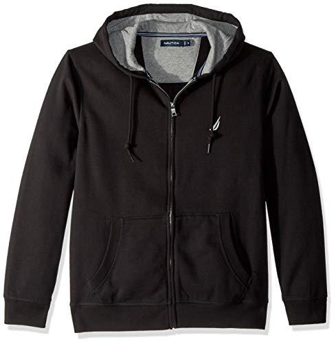 Nautica Chest Logo Zip Front Long Sleeve Hoodie