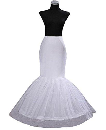 BONBETE 1 Hoop Mermaid Bridal Petticoat Half Slip Dress Underskirt