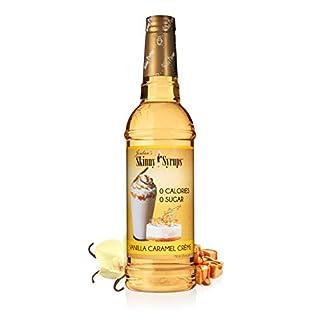 Jordan's Skinny Syrups   Sugar Free Vanilla Caramel Crème Coffee Syrup   Healthy Flavors with 0 Calories, 0 Sugar, 0 Carbs   750ml/25.4oz Bottle