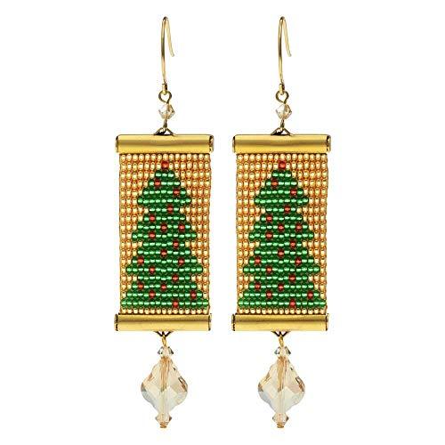 Beadaholique Loom Statement Earring Kit - Christmas Tree - Exclusive Jewelry Kit