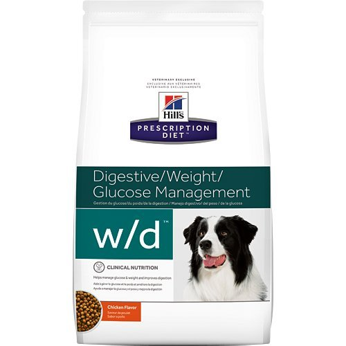 Hill's Prescription Diet w/d Digestive Weight Glucose Management Chicken Flavor Dry Dog Food 27.5 lb