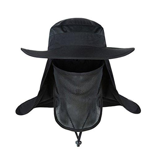 2dca7d7c153f Surblue Wide Brim Summer Outdoor Sun Protection Fishing Cap Neck Face Flap  Hat