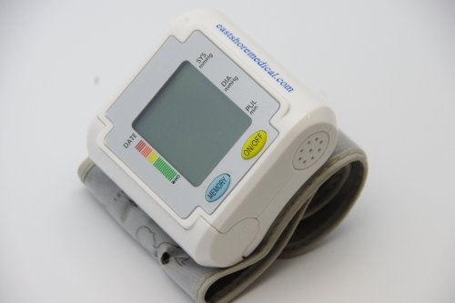 EastShore B11WV Wrist Blood Pressure Monitor With English/Spanish Talking Function , 3 Color Backlight WHO Alert, 90 memories