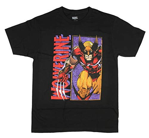 Marvel Men's Wolverine Classic Character T-Shirt, Black, X-Large
