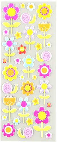- Puffy Classic Stickers-Happy Flowers