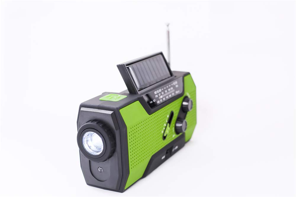 Emergency Weather Solar Crank AM/FM NOAA Radio, with 2000 mA Rechargeable Power Reading Lamp Led Flashlight SOS Alarm USB Charging Multi-Function Design for All Kinds of Emergency Situations. by JU FENG (Image #9)
