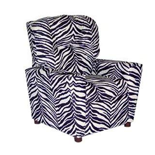 Dozydotes Kids Child Theater Recliner Chair with Cup Holder - Zebra ()