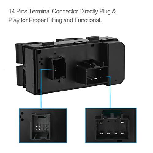 uxcell/® 20945129 Power Window Master Switch for 2007-2013 Chevrolet Silverado 1500 2500 3500 GMC Sierra 2008-2011 HHR 2009-2015 Traverse
