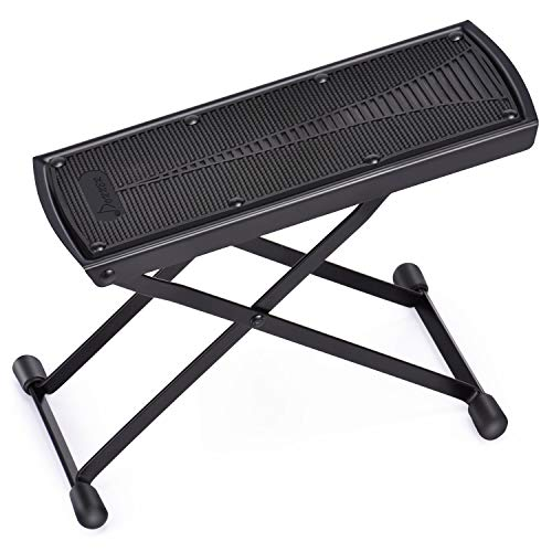 Donner Guitar Foot Stool Height Adjustable Guitar Foot Rest Footstool Black For Classical Guitar