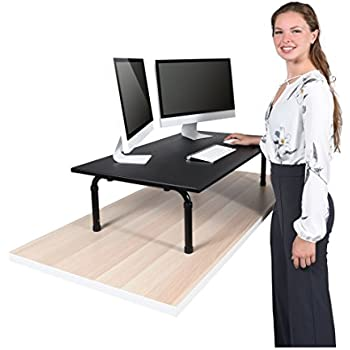 Amazon Com 42 Wide Adjustable Height Standing Desk