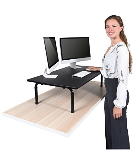 "42"" Wide Adjustable Height Standing Desk – Convert your desk to a standing desk by Stand Up Desk Store"