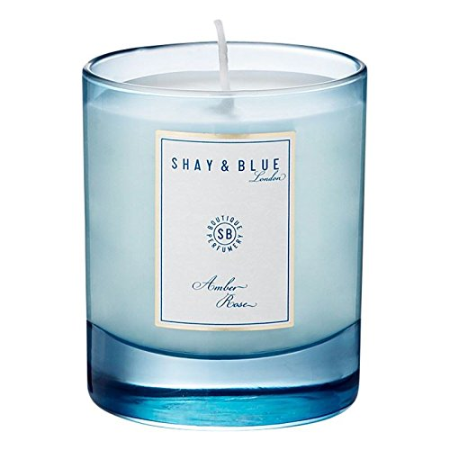 Shay & Blue Amber Rose Natural Scented Wax Candle 140g - Pack of 6