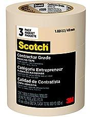 Scotch Contractor Grade Masking Tape Rolls