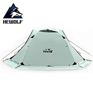 KH3S Hewolf Outdoor Camping Tent 2 Perso Beach Tent Waterproof Travel Double Layer 4 Season