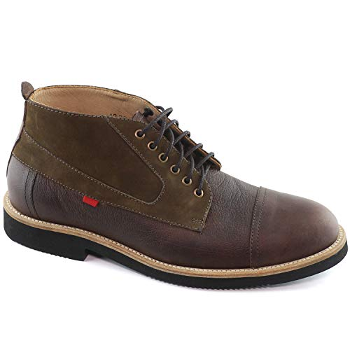 (MARC JOSEPH NEW YORK Mens Leather Made in Brazil Williamsburg Boot Sneaker, Brown Buffalo Grainy/Suede, 11 D(M) US)