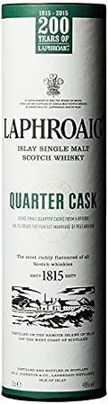 Laphroaig Quarter Cask Single Malt Whisky Escoces Ahumado, 40% - 700 ml