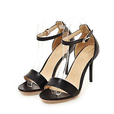Rojo 7'5 cms Mujer Stiletto Tacón Otoño 9'5 Sandalias LvYuan Dorado Verano Hebilla Primavera Plata Gold Negro Semicuero Rx1Fq