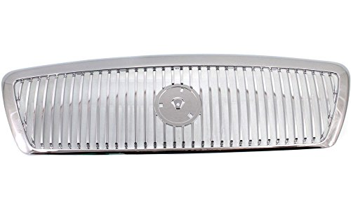Evan-Fischer EVA17772028641 Grille for Mercury Grand Marquis 03-05 Chrome Monotone Replaces Partslink# FO1200406