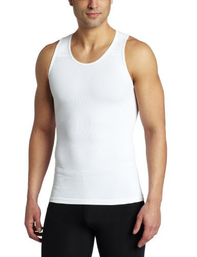 05baeac9 ROunderbum Men's Muscle Tank T-Shirt, White, Large