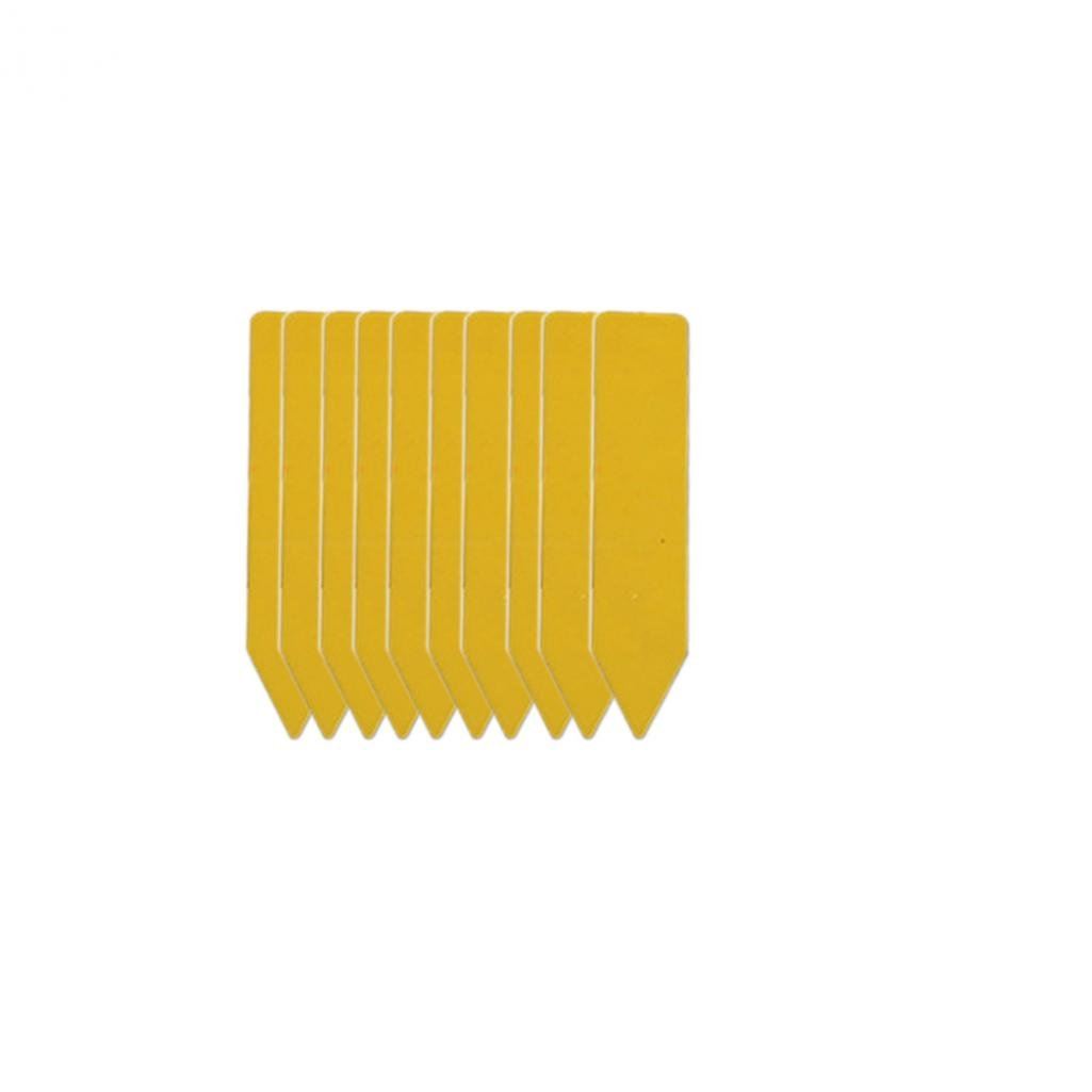 SoundsBeauty 100Pcs Garden Plant Pot Markers Plastic Stake Tags Yard Court Nursery Seed Label - Yellow 100pcs