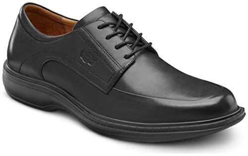 Dr. Comfort Classic Men's Therapeutic Diabetic Extra Depth Dress Shoe Leather LaceBlack 6 Medium...