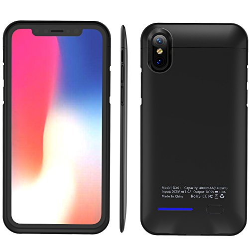 Balleay Art Wireless Battery Charging Case 4000Mah Magnet Bracket Portable Cover Charger Compatible Phone Cases with iPhone X /8/7 and More