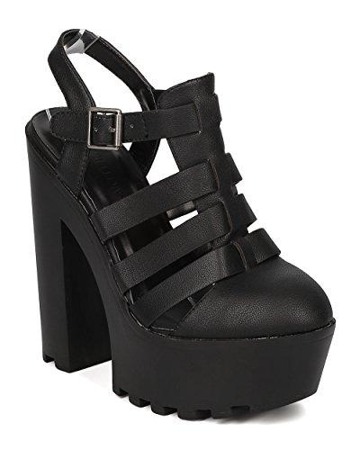 Women Leatherette Sole Block Heel product image