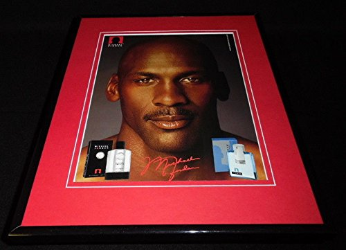 Michael Jordan Signed Display - Michael Jordan 11x14 Facsimile Signed Framed 2004 Cologne Advertising Display