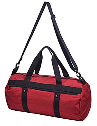 MIER Gym Bag for Women Ladies Girls Red Duffel Bag with Shoe Compartment, 20 Inch