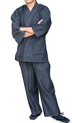 Edoten Men's Japan Kimono Denim Samue BK XXXL