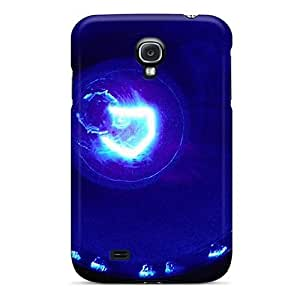 Durable Defender Case For Galaxy S4 Tpu Cover(blue Light)